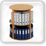 Click to view round wooden file holders